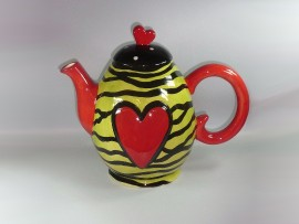 "Ceainic Colectia ""Colorful Heart"" Yellow"