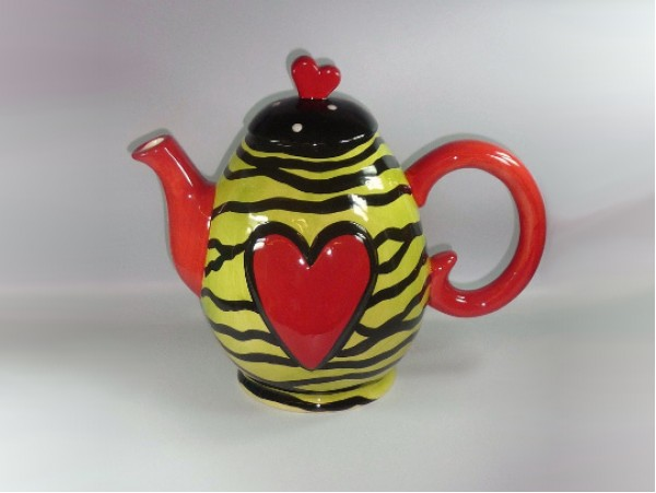 """Ceainic Colectia """"Colorful Heart"""" Yellow"""