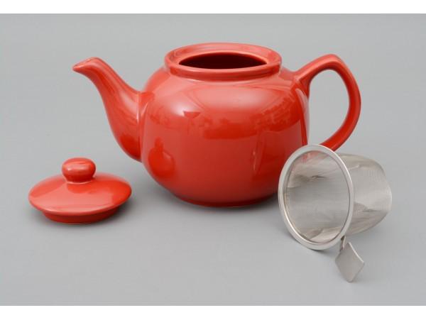 Ceainic Rosu cu Infuzor de Inox