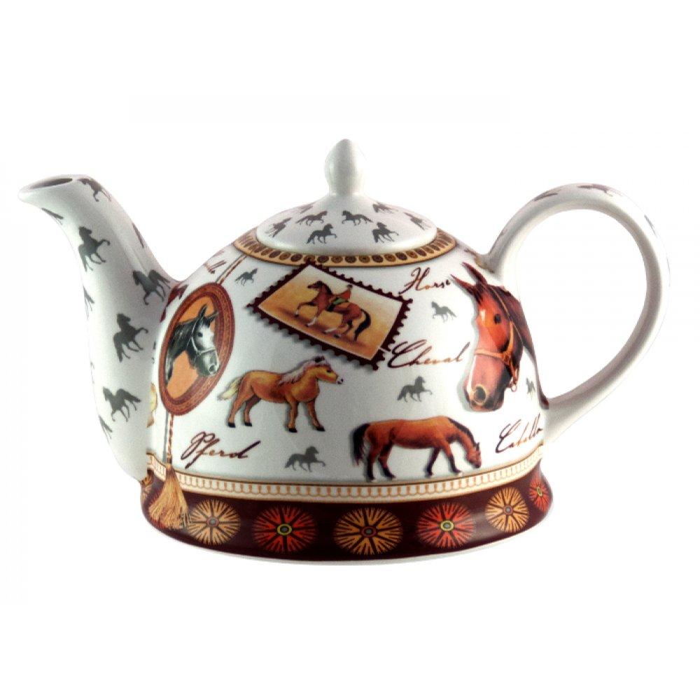 "Ceainic din Portelan Colectia ""Ceramica cu Cai"" 1.8L"