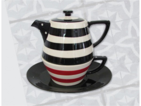 Tea For One Colectia Black and White Stripes