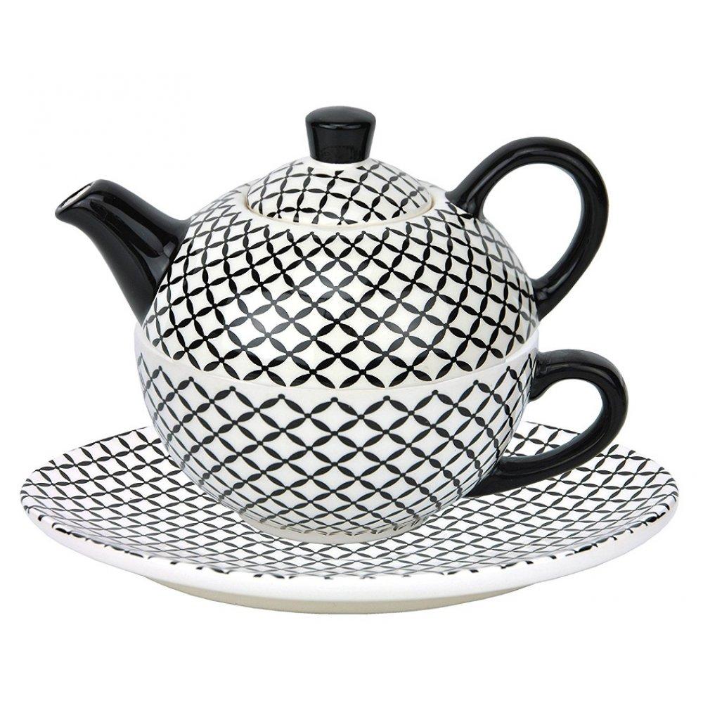 Tea For One Colectia Carouri Black/White