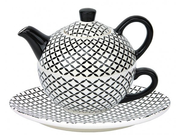 Tea For One Colectia Carouri Black/White