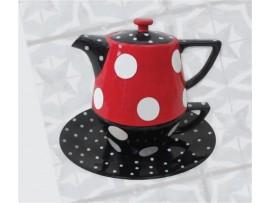 Tea For One Colectia Rosu cu Buline