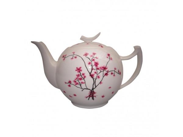 "Ceainic portelan 1L colectia ""Cherry Blossoms"""