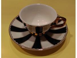 "Ceasca espresso colectia ""Black Stripes"" Gold Collection"