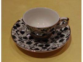 "Ceasca espresso colectia ""Black Flowers"" Gold Collection"