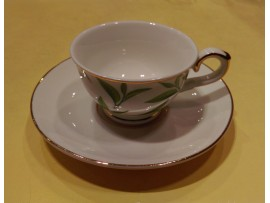 "Ceasca espresso colectia ""Green Tea Leaves"" Gold Collection"