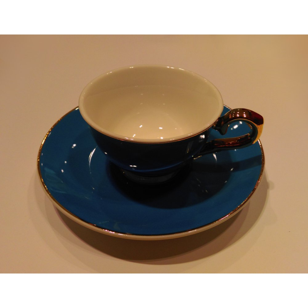 """Ceasca espresso colectia """"Blue and Gold Lines"""" Gold Collection"""