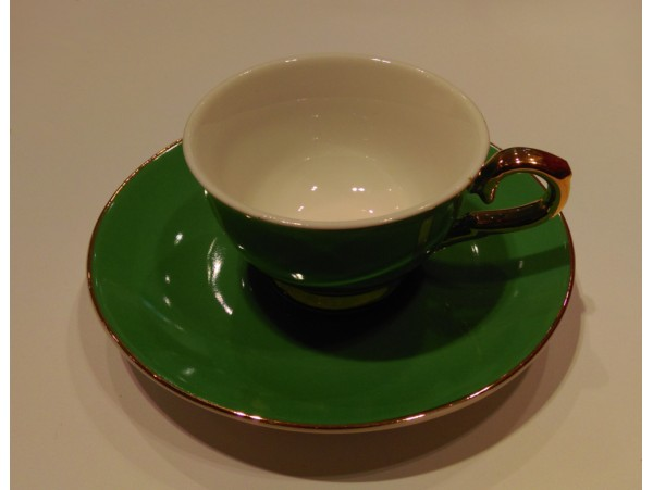 """Ceasca espresso colectia """"Green and Gold Lines"""" Gold Collection"""
