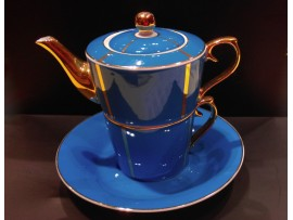 "Ceainic cu cana Tea for One colectia ""Blue and Gold Lines"" Gold Collection"