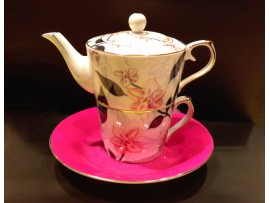 "Ceainic cu cana Tea for One colectia ""Pink Orchids"" Gold Collection"