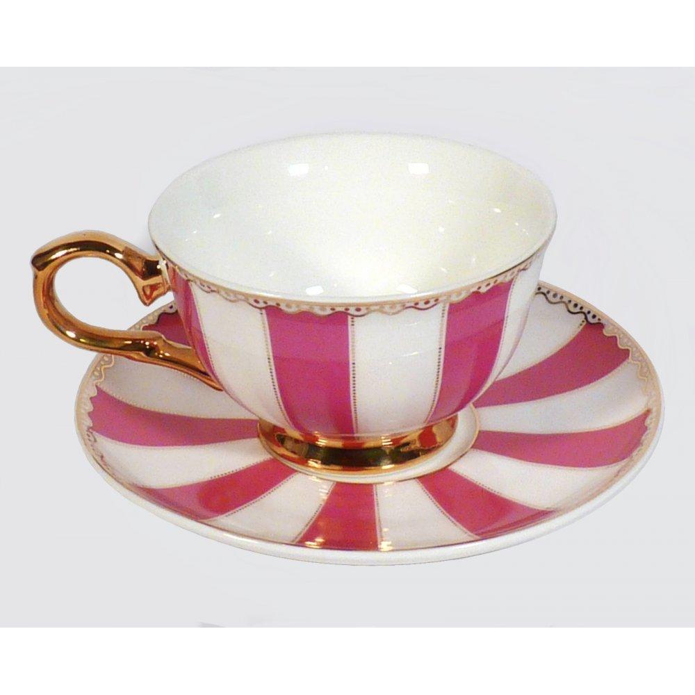 "Ceasca espresso colectia ""Pink Stripes"" Gold Collection"