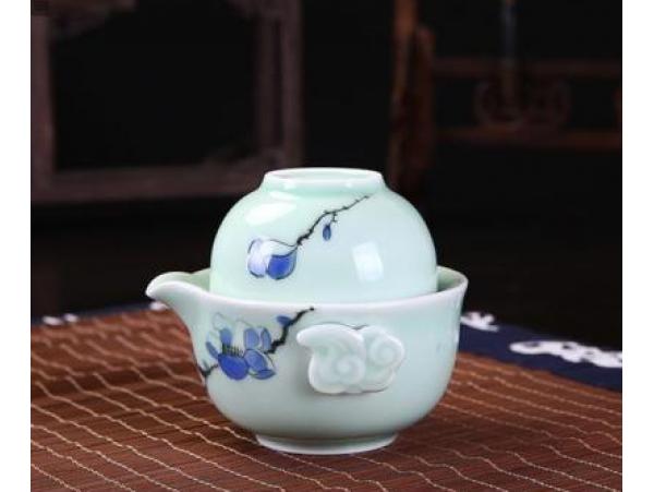 Set de Ceai pentru Calatorie Flori de Lotus Albastre