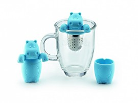 "Infuzor Inox in teaca de silicon ""Mr Hippo"""