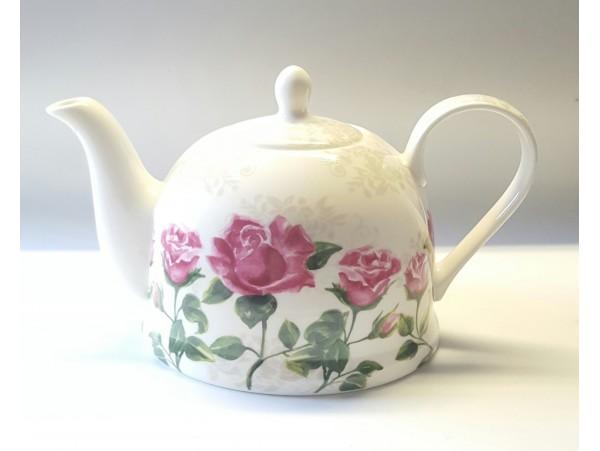 "Ceainic portelan colectia ""Rose pink"""