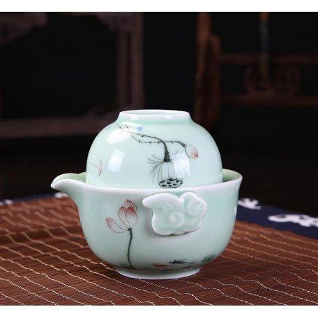 Set de Ceai pentru Calatorie Flori si Nori