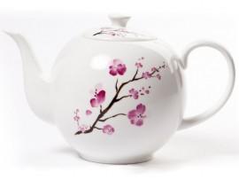 "Ceainic portelan 1.2L colectia ""Cherry Blossom"""