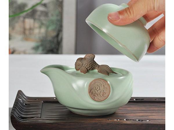 Set Ceai de portelan pentru Calatorie Mountain River