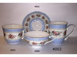 Cana Inalta Portelan Colectia Blossoms Blue Checkered