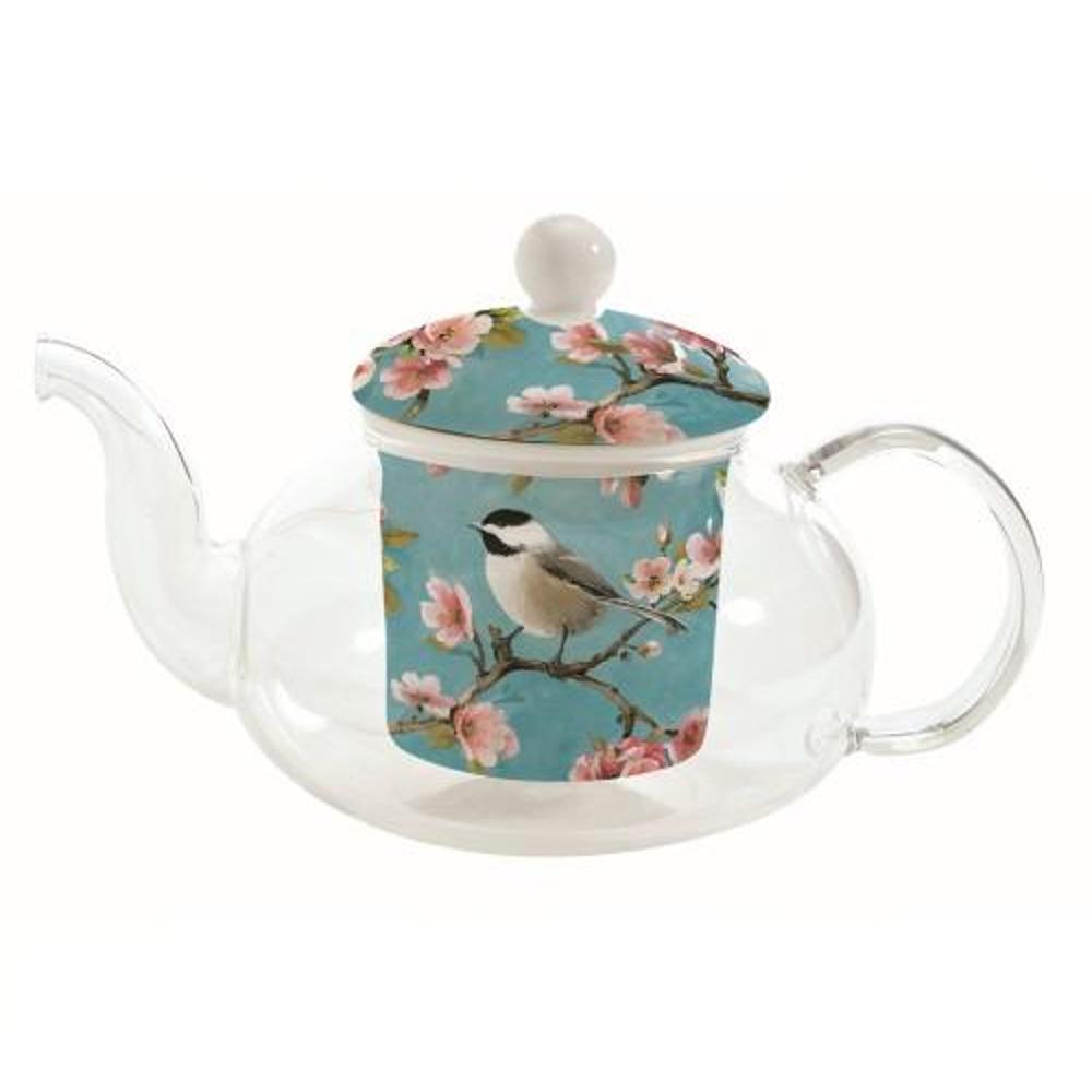 """Ceainic de Sticla cu infuzor ceramic """"Birdie"""" 0.45L"""