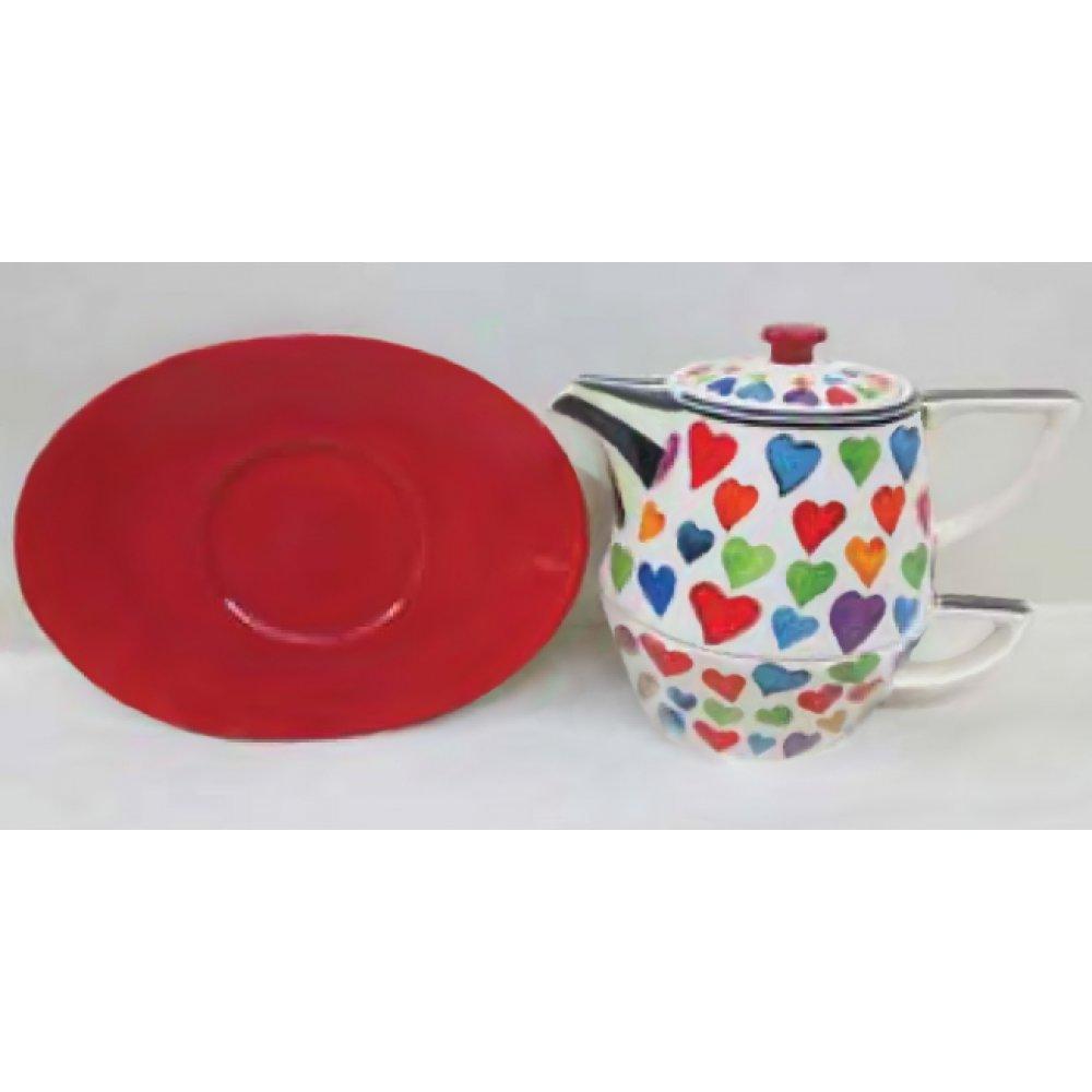 Tea For One Colectia Inimi Multicolore