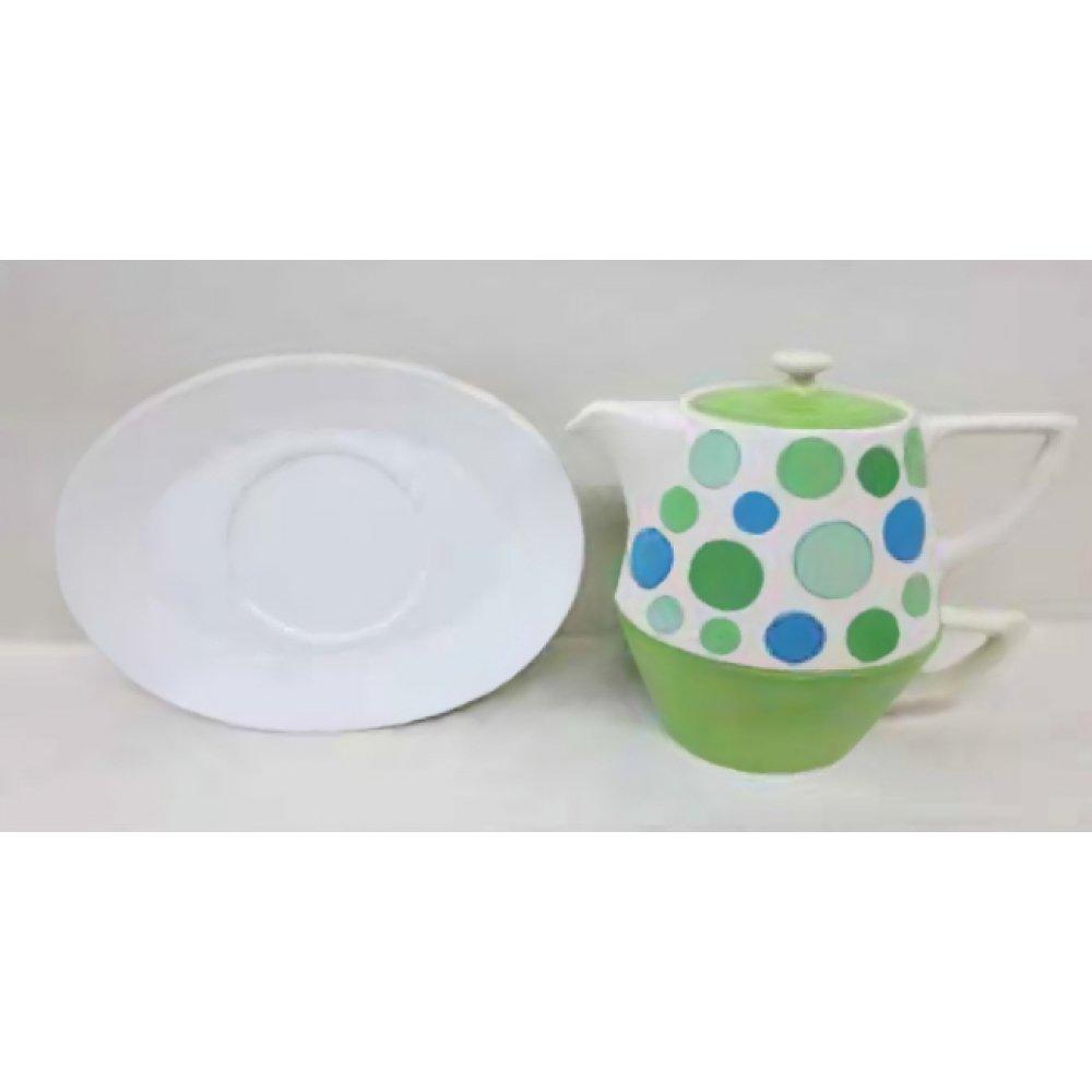 Tea For One Colectia Puncte Verzi si Albastre