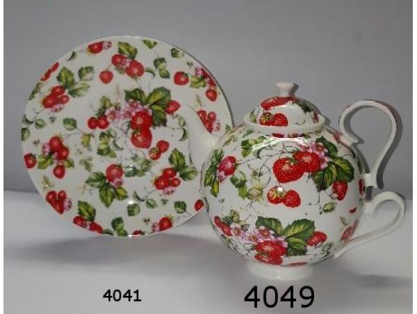 Tea for One Portelan Colectia Strawberry