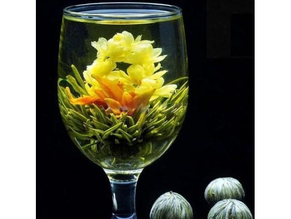 """Ceai Verde Blooming """"Bai He Hua"""""""
