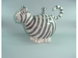 Ceainic Colectia Striped Cat with Mouse