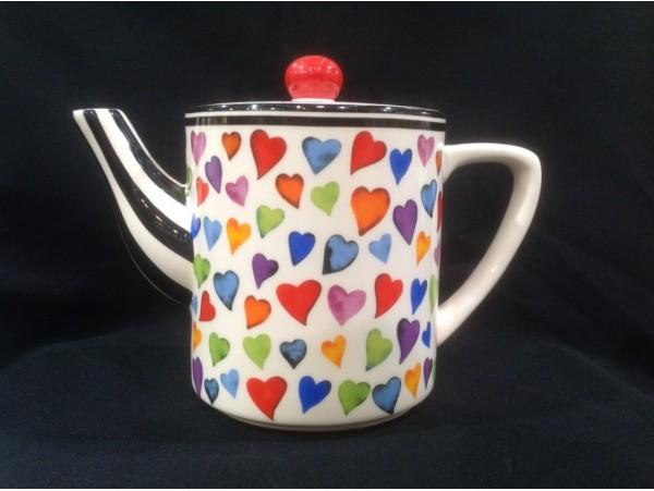 Ceainic Colectia Inimi Multicolore