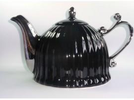 Ceainic Colectia Negru cu Argintiu