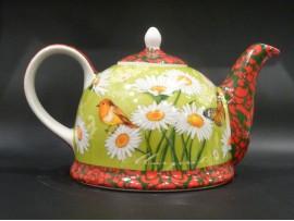Ceainic Colectia Pajiste Verde cu Margine Decorativa 1.8L