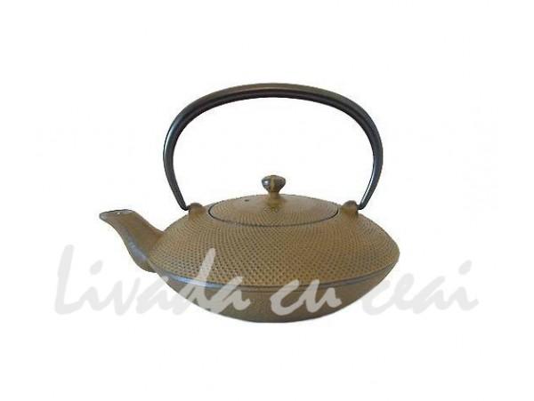 Ceainic din Fonta Japoneza Tsuba Arare