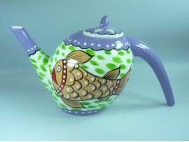 Ceainic Handpainted Colectia Fish - Japan