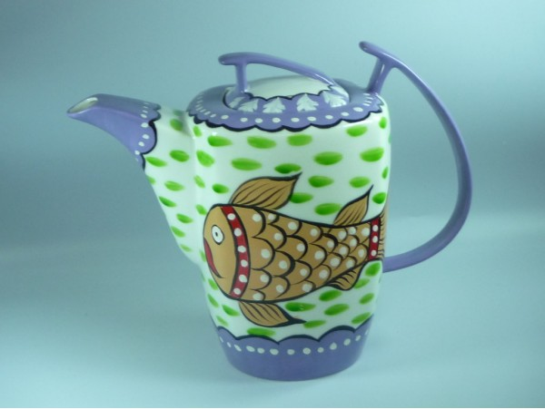 Ceainic Handpainted Colectia Fish - Tibet