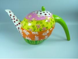 Ceainic Handpainted Colectia Flower Patchwork - Japan