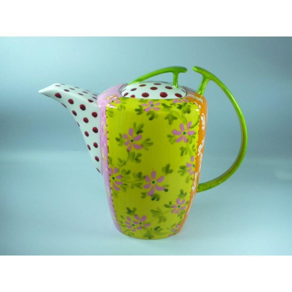 Ceainic Handpainted Colectia Flower Patchwork - Tibet