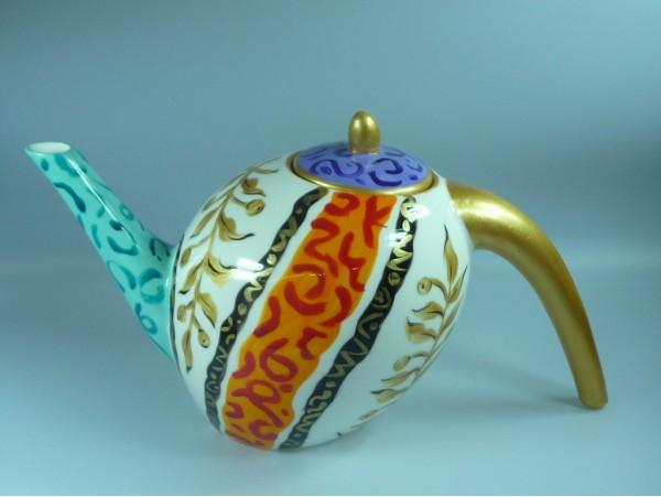 Ceainic Handpainted Colectia Golden Tendrils - Japan