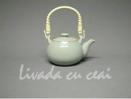 Ceainic Japonez din Ceramica Celadon gri