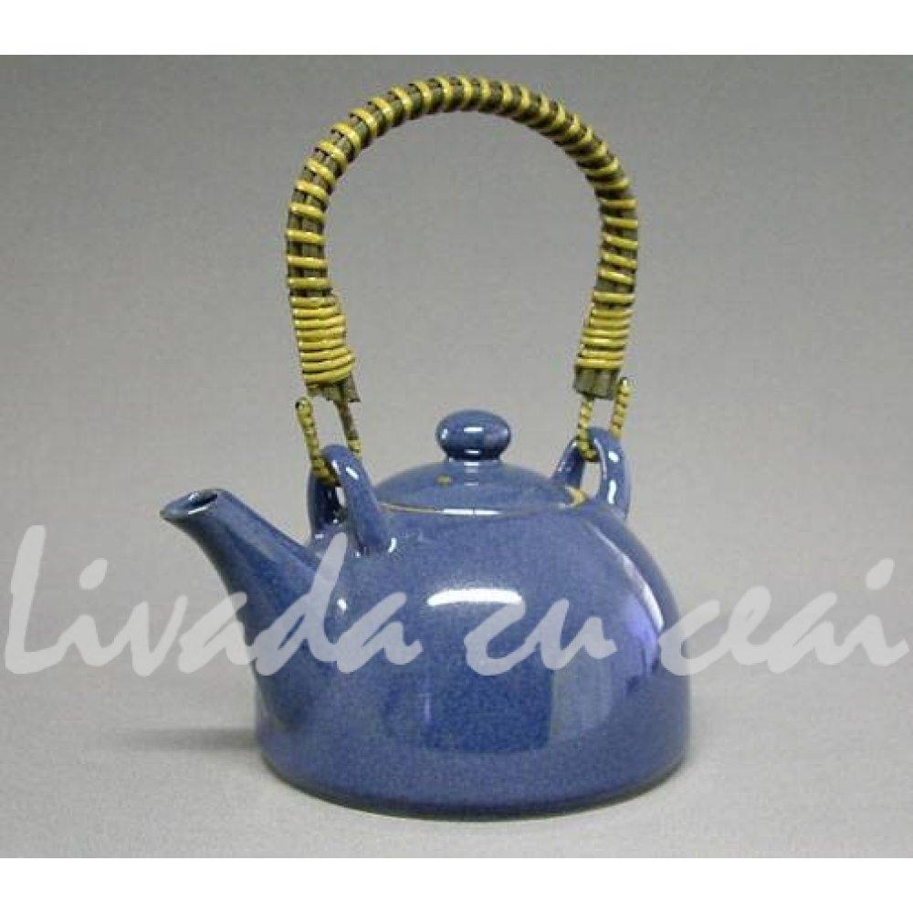 Ceainic Japonez din Ceramica Celadon albastru