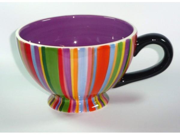 Ceasca Mare Colectia Ceramica in Dungi Colorate
