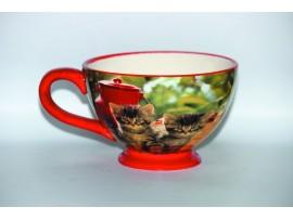 Ceasca Mare Colectia Pisici Rosii