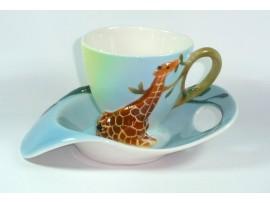 Cescuta cu Farfurioara Colectia Baby Giraffe