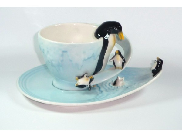 Cescuta cu Farfurioara Colectia Penguins on Ice