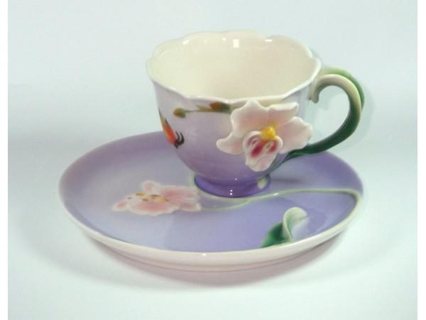 Cescuta Cu Farfurioara Colectia Pink Orchid