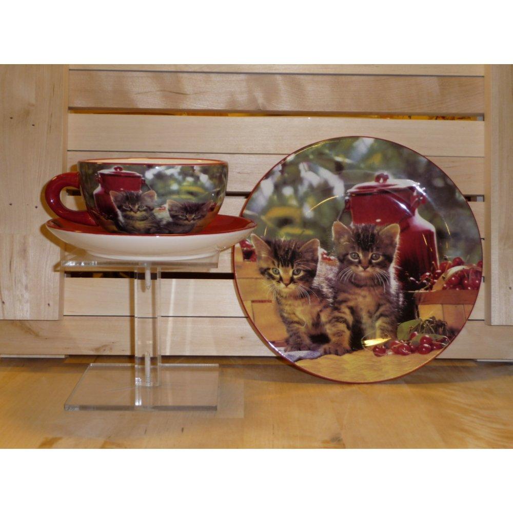 Cescuta cu farfurioara Colectia Pisici Rosii