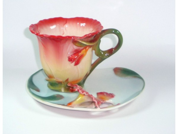 Cescuta Cu Farfurioara Colectia Red Flower