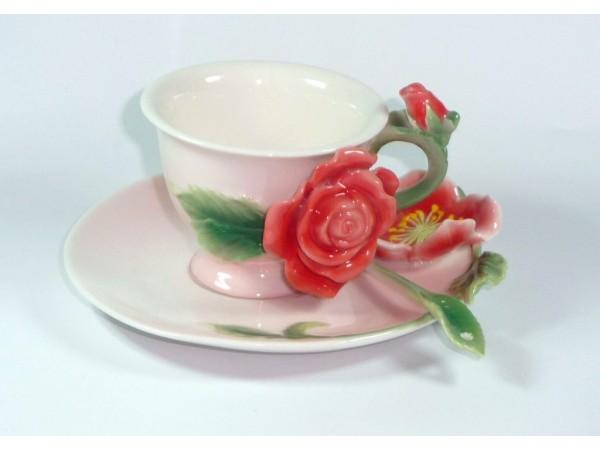 Cescuta cu Farfurioara Manufaktur Colectia Romantic Roses