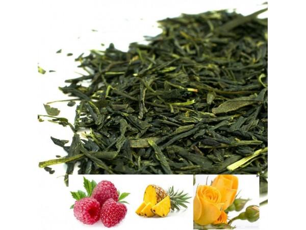 Ceai Verde Sencha cu Zmeura